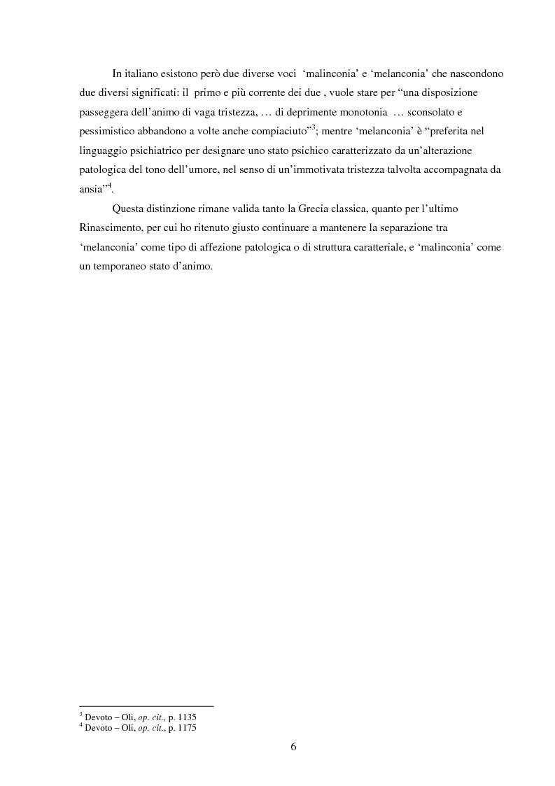 Anteprima della tesi: Amleto e la figura del melanconico nella drammaturgia elisabettiana, Pagina 3