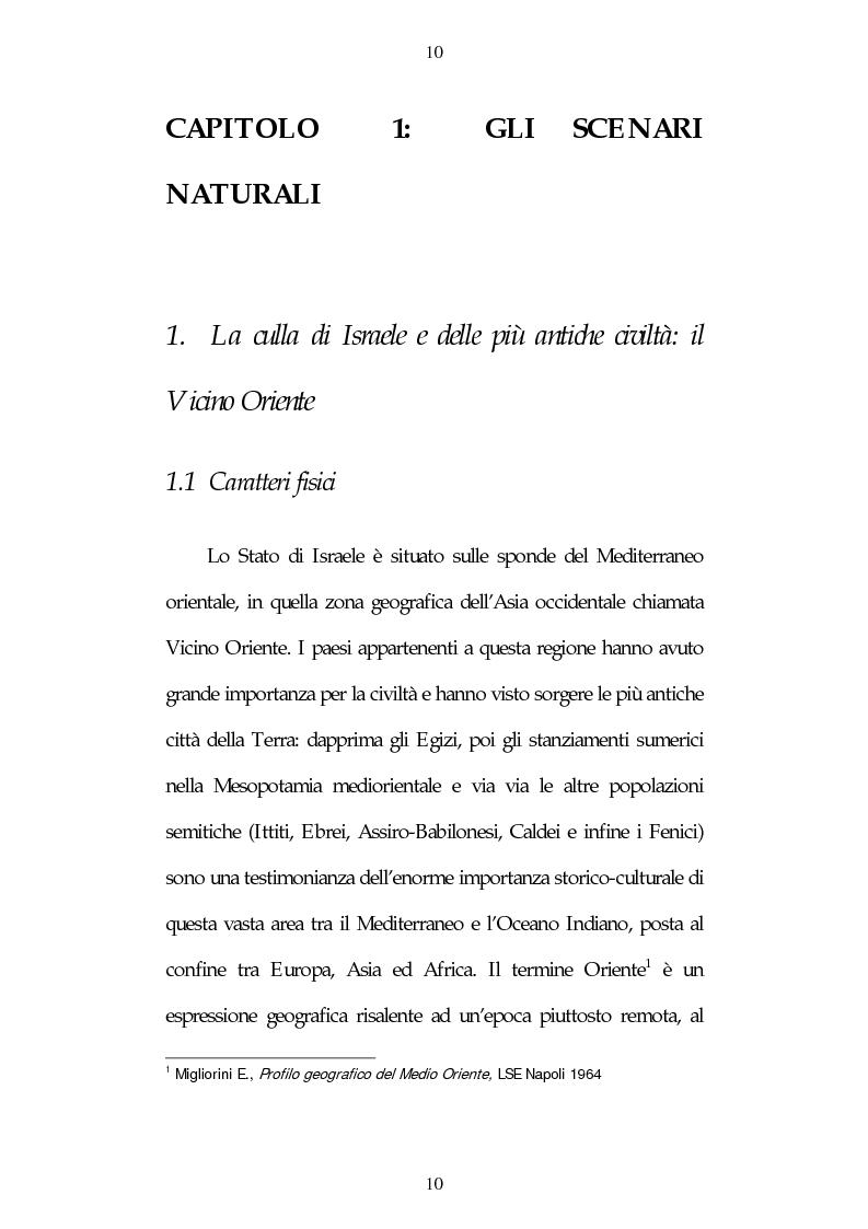 Anteprima della tesi: Israele: aspetti e problemi di uno stato piccolo con una nazione molto estesa, Pagina 10