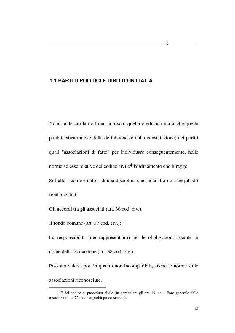 Anteprima della tesi: La forma - partito nel diritto angloamericano e riforme istituzionali in Italia, Pagina 11