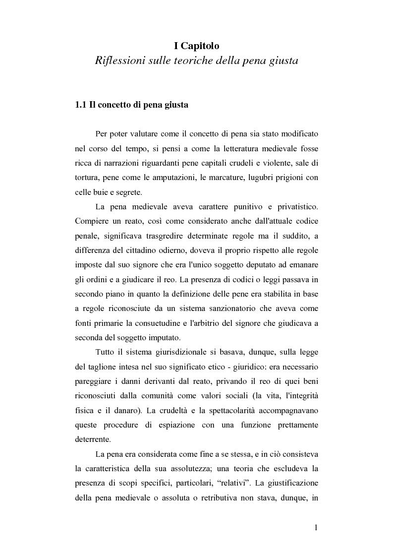 Anteprima della tesi: Dalla pena giusta alla pena utile, Pagina 6