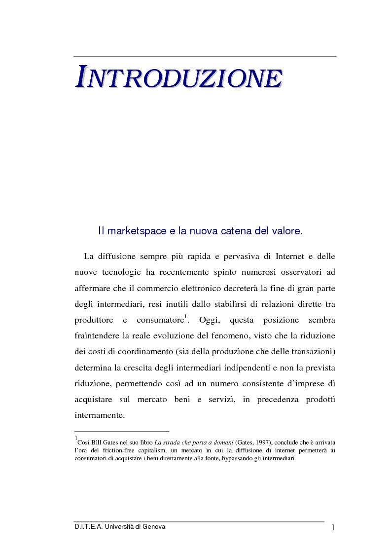 Anteprima della tesi: La grande distribuzione di fronte ai recenti sviluppi del commercio elettronico, Pagina 1