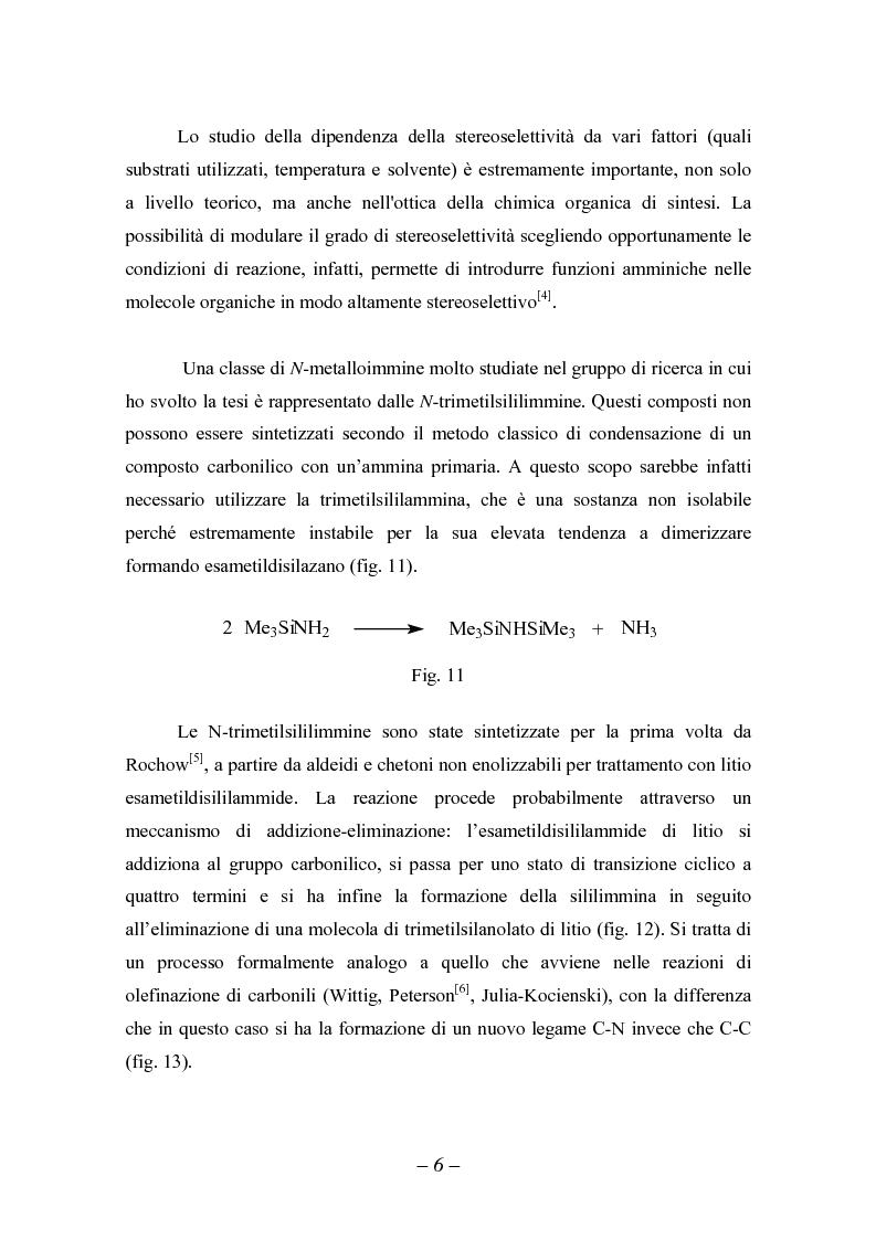 Anteprima della tesi: Reattività di sililimmine, Pagina 6