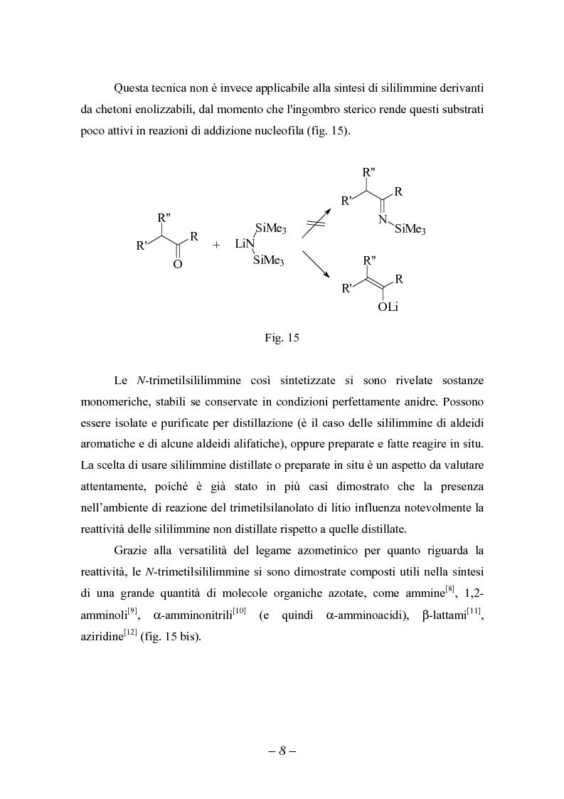 Anteprima della tesi: Reattività di sililimmine, Pagina 8
