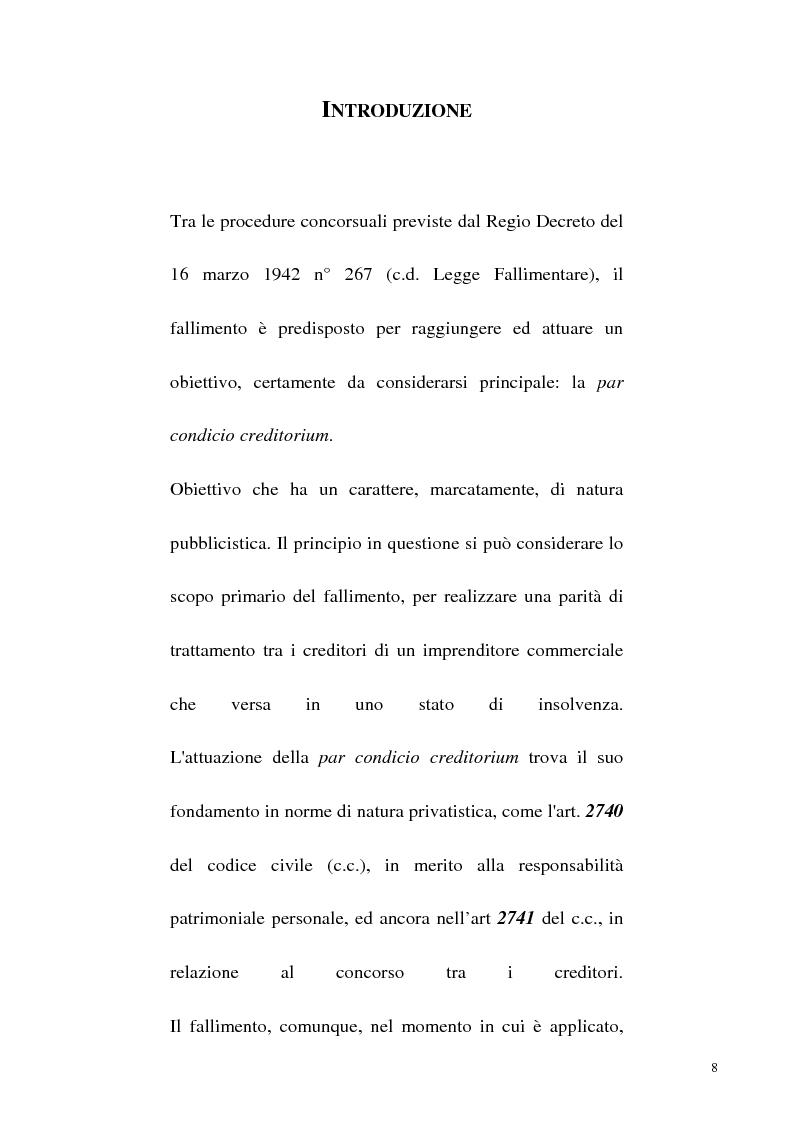 Anteprima della tesi: L'iniziativa d'ufficio nel fallimento, Pagina 1