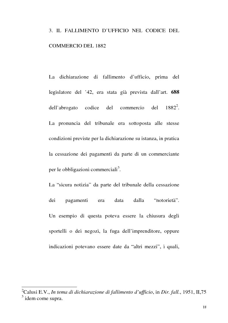 Anteprima della tesi: L'iniziativa d'ufficio nel fallimento, Pagina 11