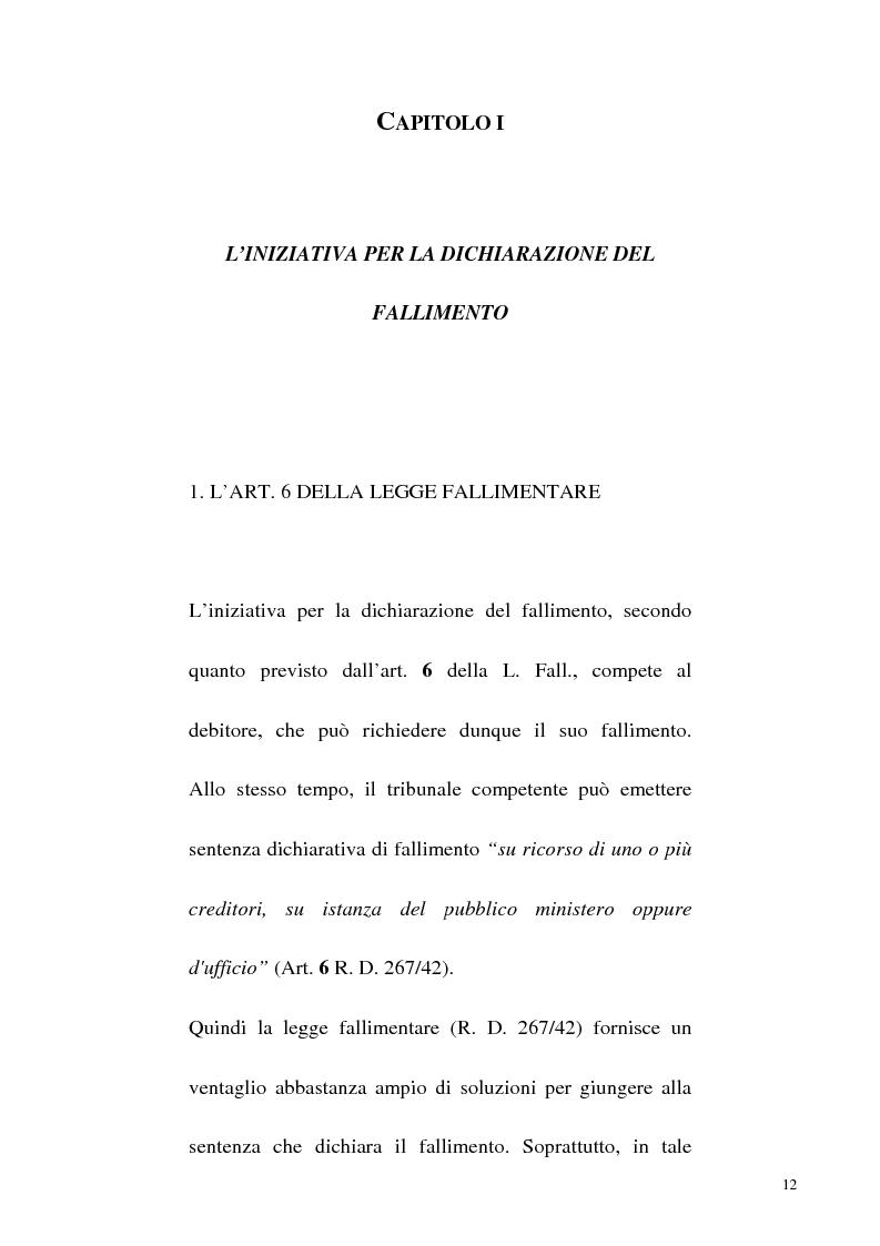 Anteprima della tesi: L'iniziativa d'ufficio nel fallimento, Pagina 5