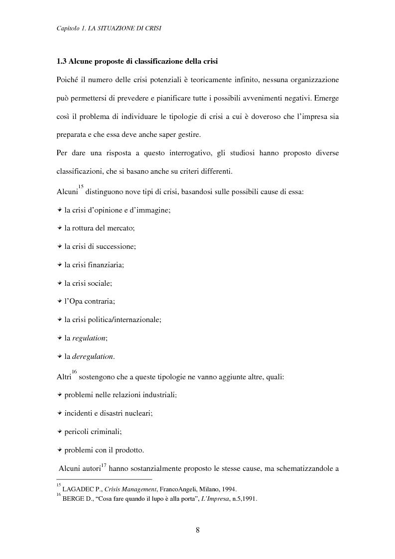 Anteprima della tesi: Crisis management: aspetti teorici e riflessioni su casi reali, Pagina 12