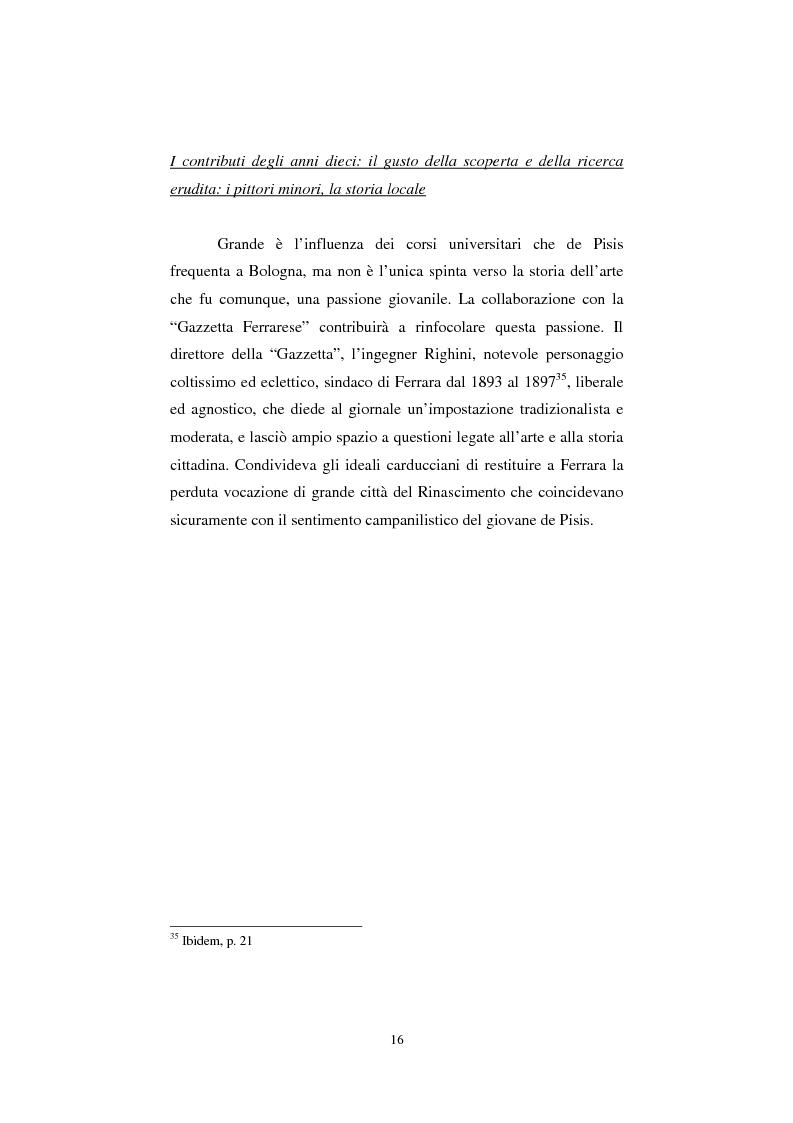 Anteprima della tesi: De Pisis al museo. Dalla collezione privata all'esposizione pubblica, Pagina 15