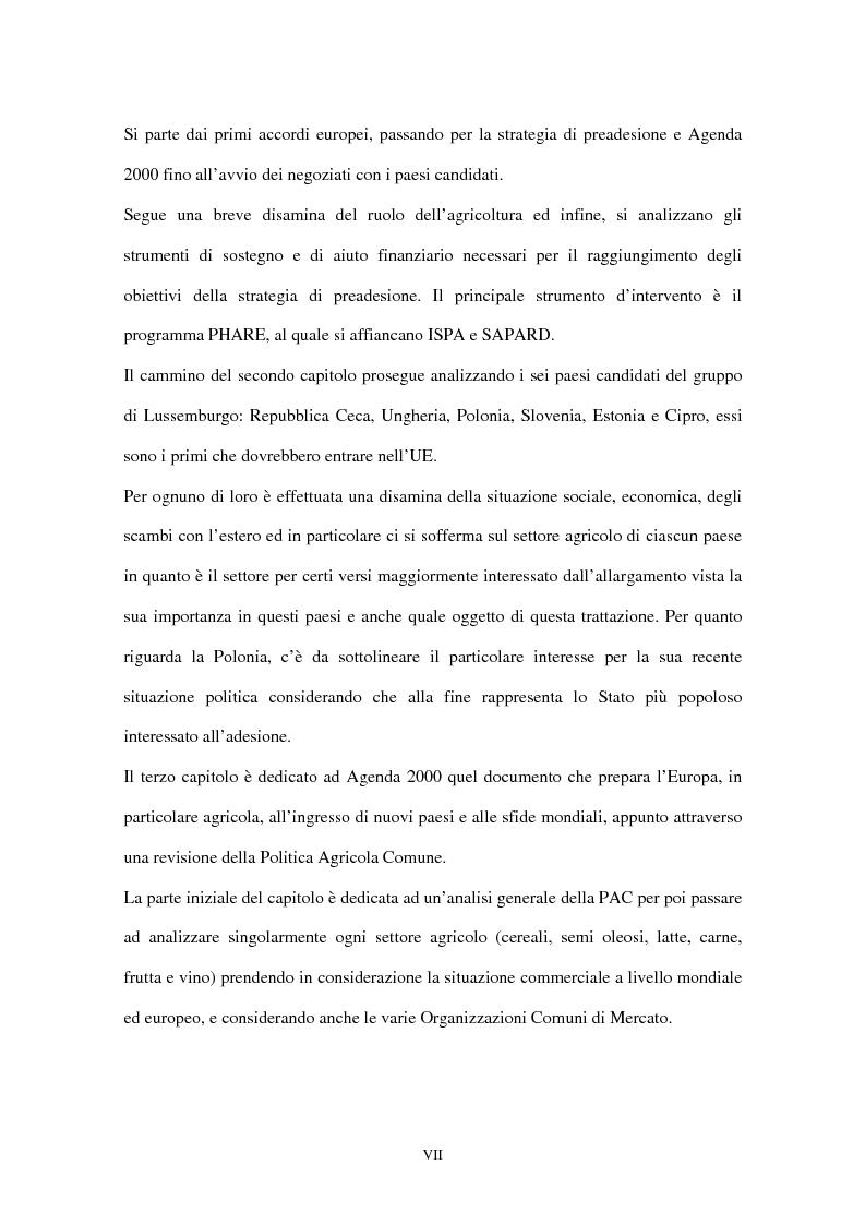 Anteprima della tesi: Allargamento dell'Unione Europea ai paesi Peco: conseguenze sul settore agricolo, Pagina 2