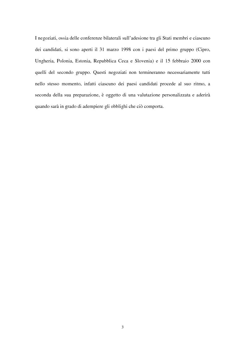 Anteprima della tesi: Allargamento dell'Unione Europea ai paesi Peco: conseguenze sul settore agricolo, Pagina 6