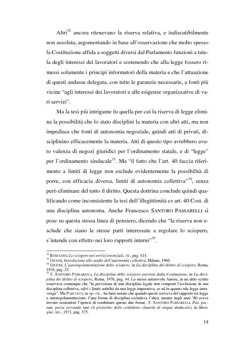 Anteprima della tesi: La commissione di garanzia nella vecchia e nella nuova disciplina della legge sullo sciopero dei servizi pubblici essenziali, Pagina 14