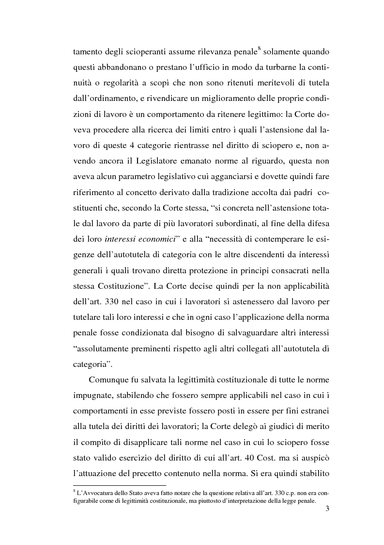 Anteprima della tesi: La commissione di garanzia nella vecchia e nella nuova disciplina della legge sullo sciopero dei servizi pubblici essenziali, Pagina 3