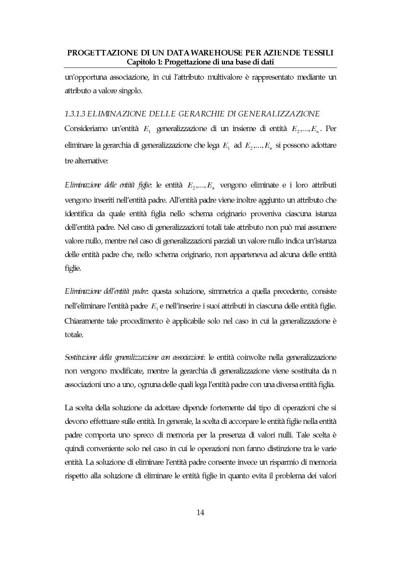 Anteprima della tesi: Progettazione di un data warehouse per aziende tessili, Pagina 13
