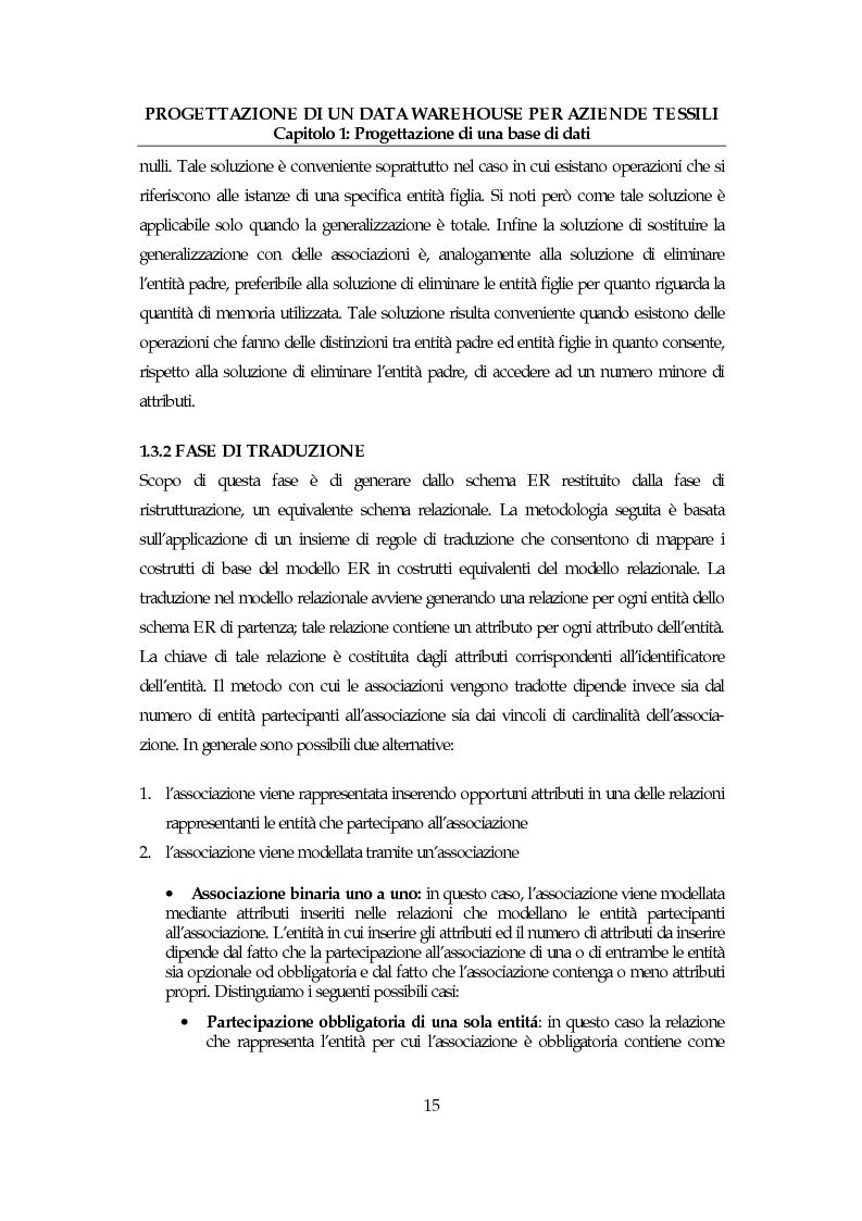 Anteprima della tesi: Progettazione di un data warehouse per aziende tessili, Pagina 14