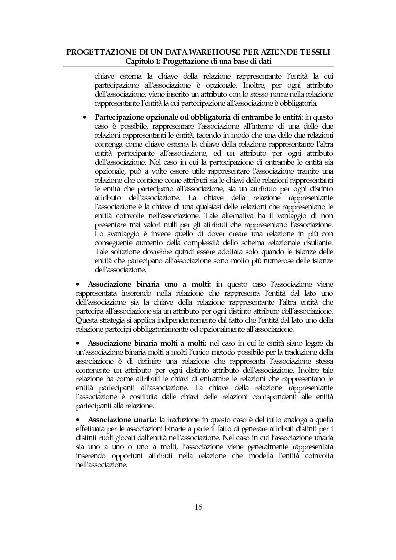 Anteprima della tesi: Progettazione di un data warehouse per aziende tessili, Pagina 15