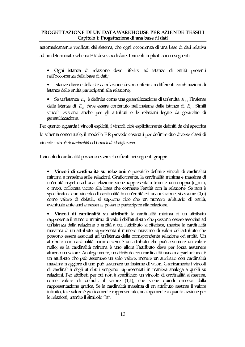 Anteprima della tesi: Progettazione di un data warehouse per aziende tessili, Pagina 9