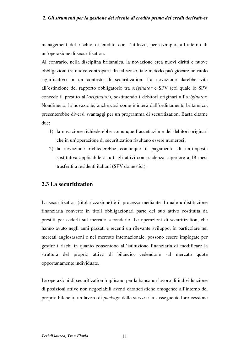 Anteprima della tesi: Il mercato dei credit derivatives, Pagina 10