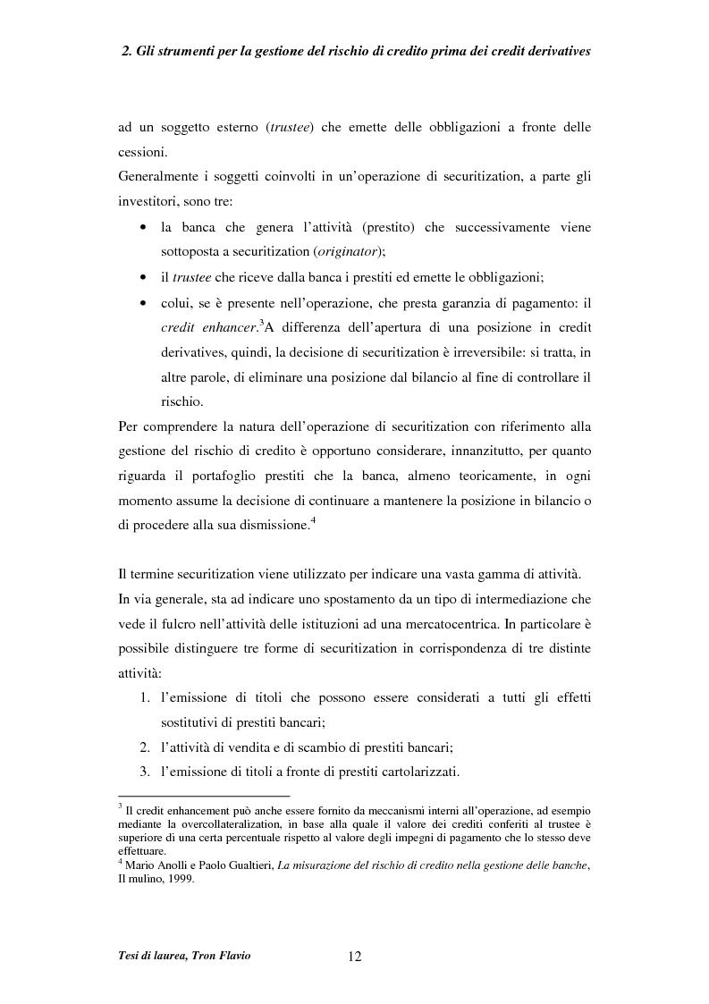 Anteprima della tesi: Il mercato dei credit derivatives, Pagina 11