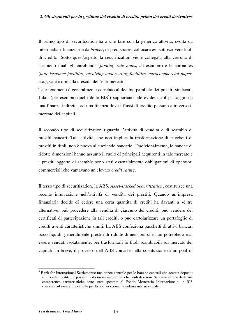 Anteprima della tesi: Il mercato dei credit derivatives, Pagina 12