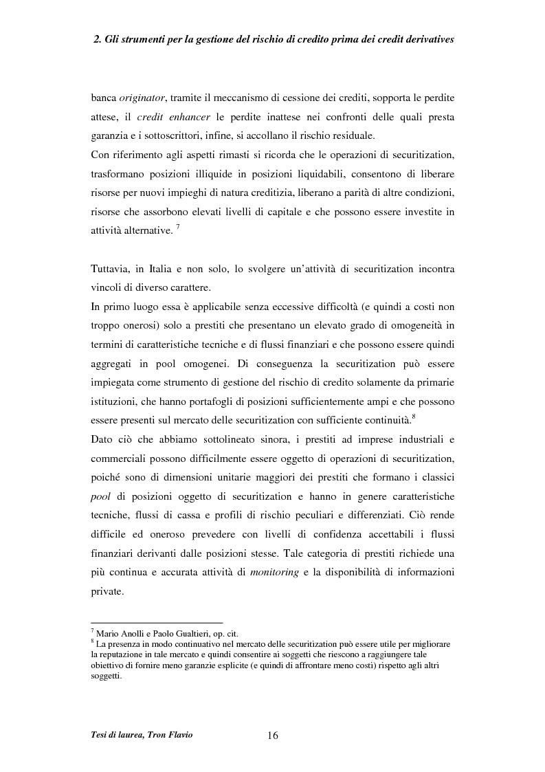 Anteprima della tesi: Il mercato dei credit derivatives, Pagina 15