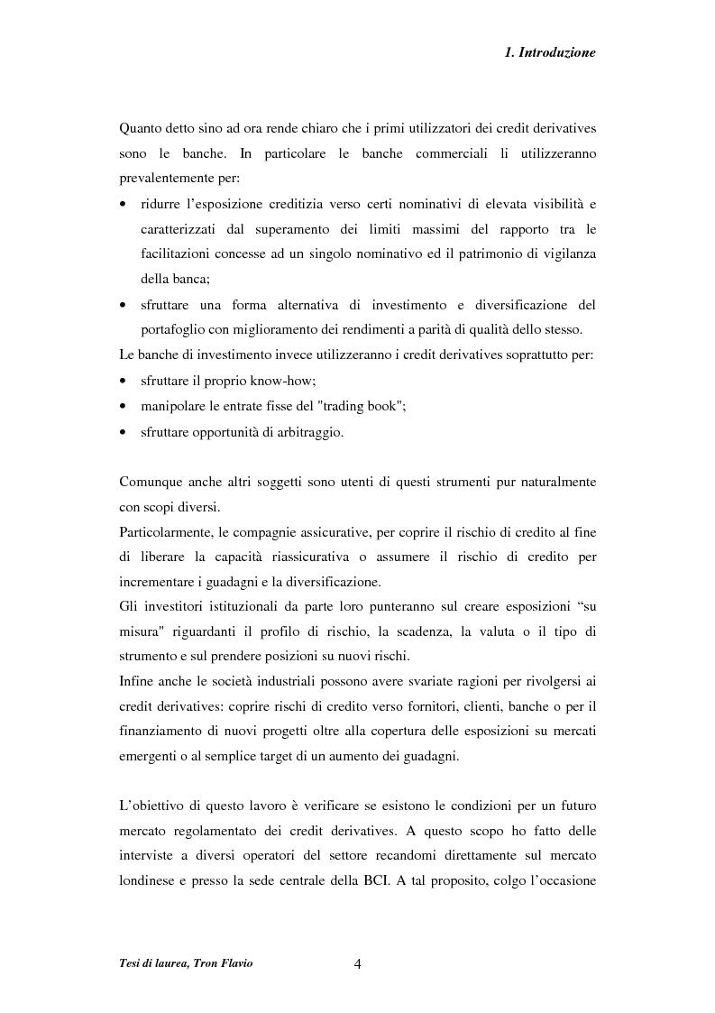Anteprima della tesi: Il mercato dei credit derivatives, Pagina 4