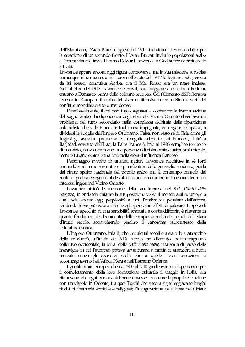 Anteprima della tesi: Il mondo arabo nel pensiero e nell'azione di Lawrence d'Arabia, Pagina 2