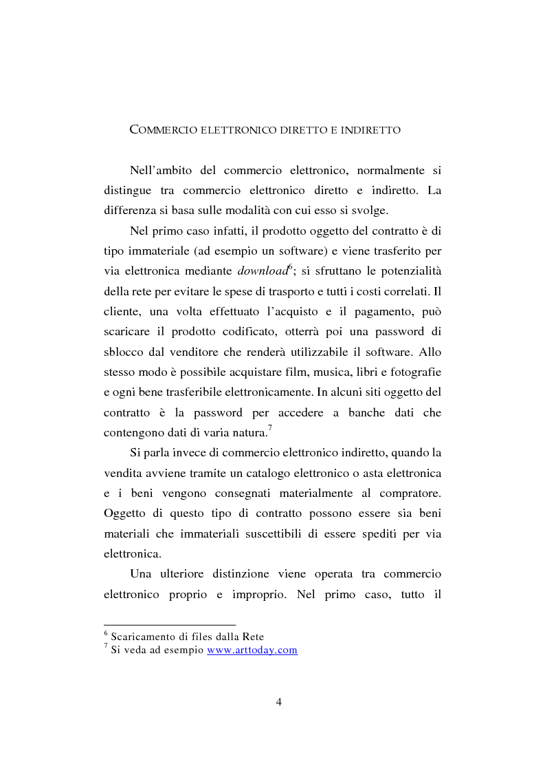 Anteprima della tesi: Il commercio elettronico. Profili giuridici della tutela del consumatore, Pagina 4