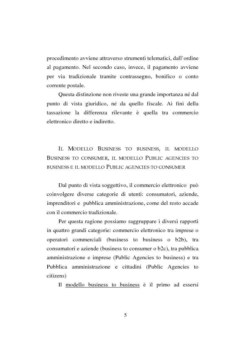 Anteprima della tesi: Il commercio elettronico. Profili giuridici della tutela del consumatore, Pagina 5