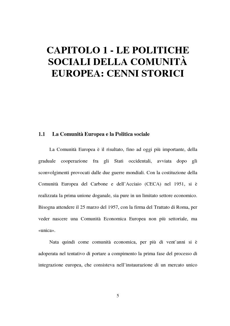 Anteprima della tesi: I fondi strutturali nella politica economica europea, Pagina 1
