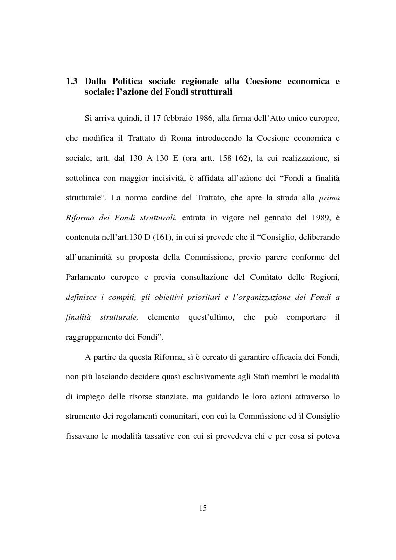 Anteprima della tesi: I fondi strutturali nella politica economica europea, Pagina 11