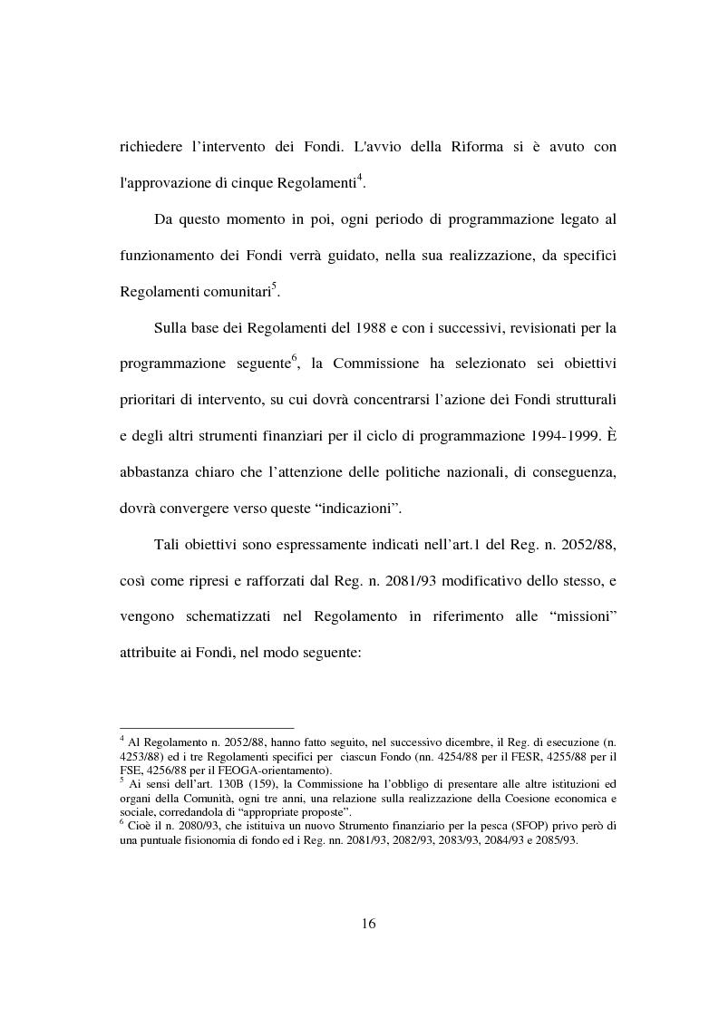 Anteprima della tesi: I fondi strutturali nella politica economica europea, Pagina 12