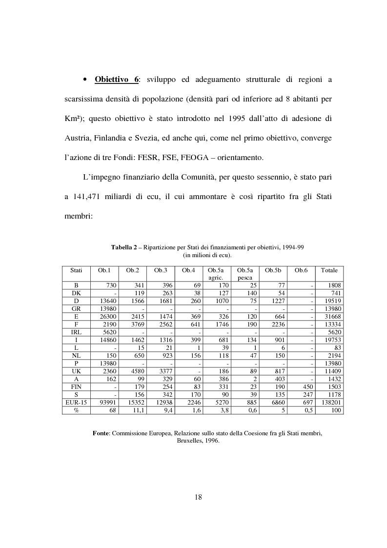 Anteprima della tesi: I fondi strutturali nella politica economica europea, Pagina 14