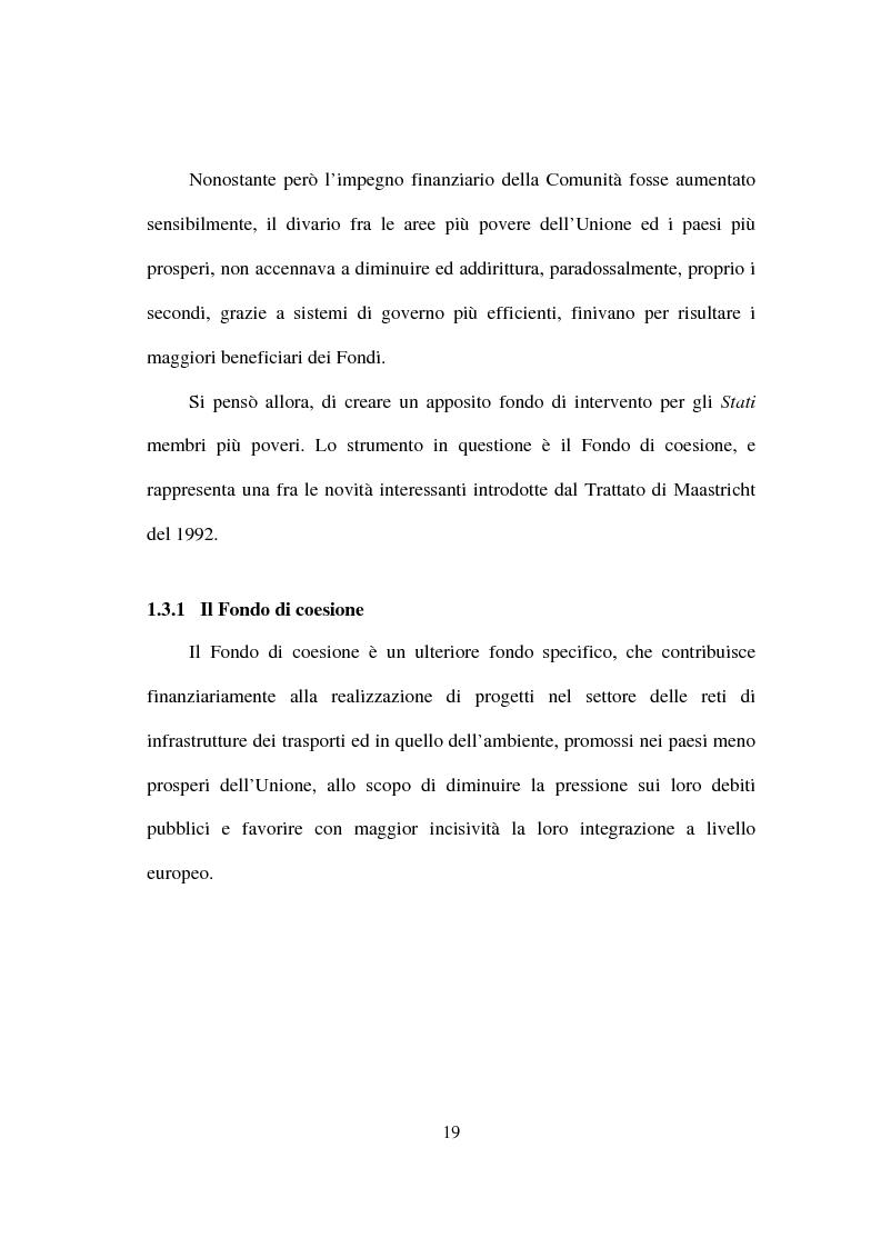 Anteprima della tesi: I fondi strutturali nella politica economica europea, Pagina 15
