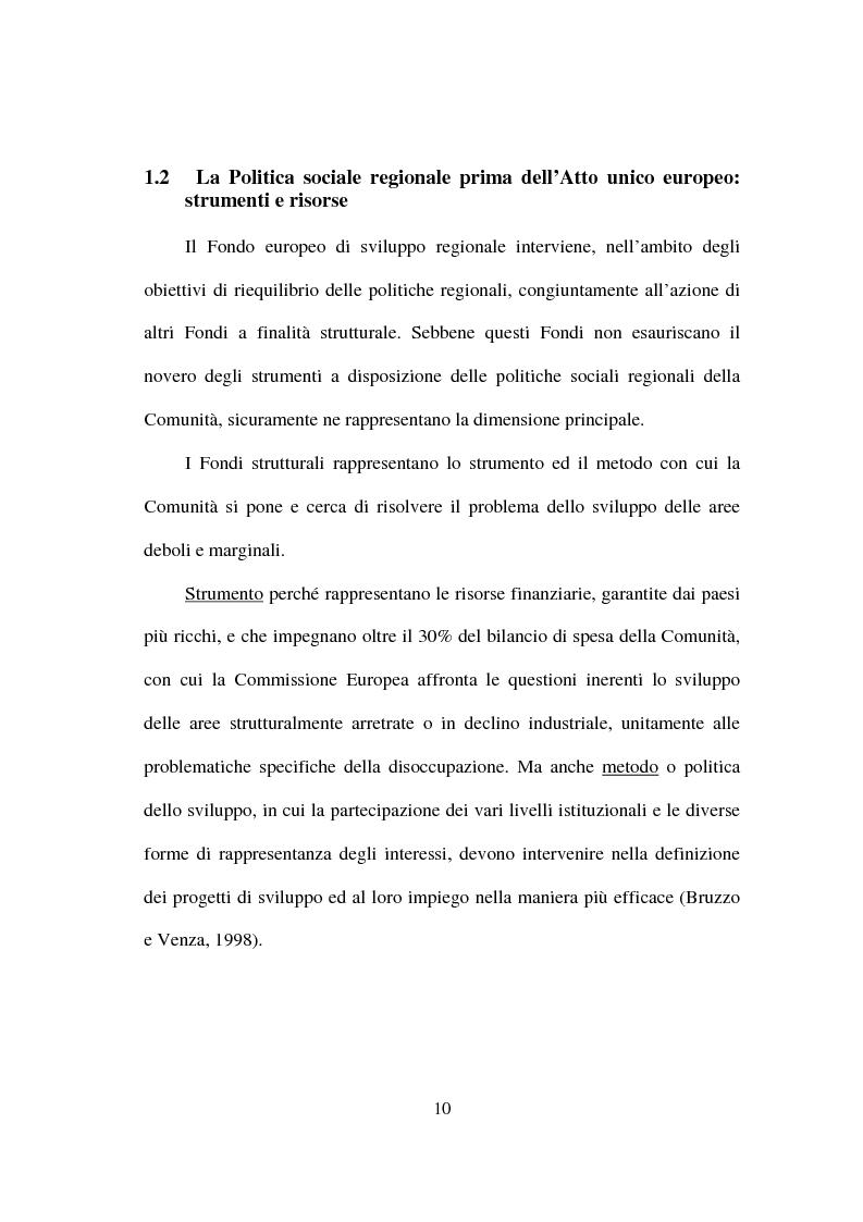 Anteprima della tesi: I fondi strutturali nella politica economica europea, Pagina 6
