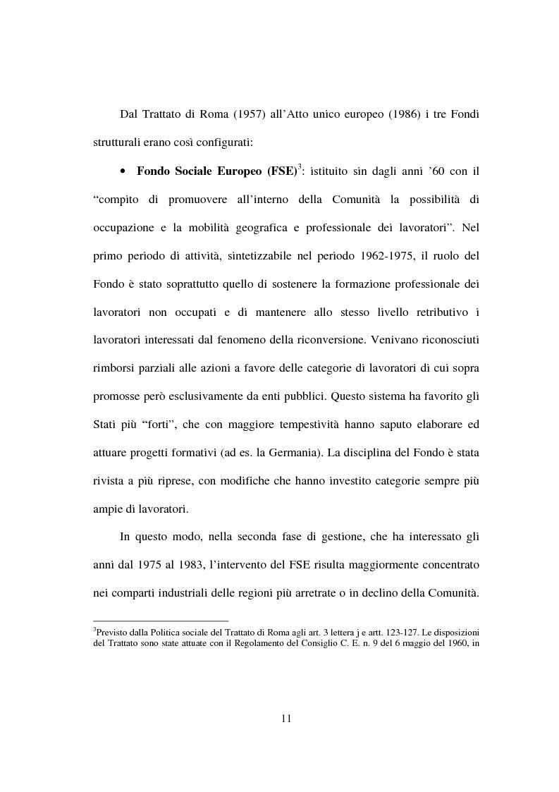 Anteprima della tesi: I fondi strutturali nella politica economica europea, Pagina 7