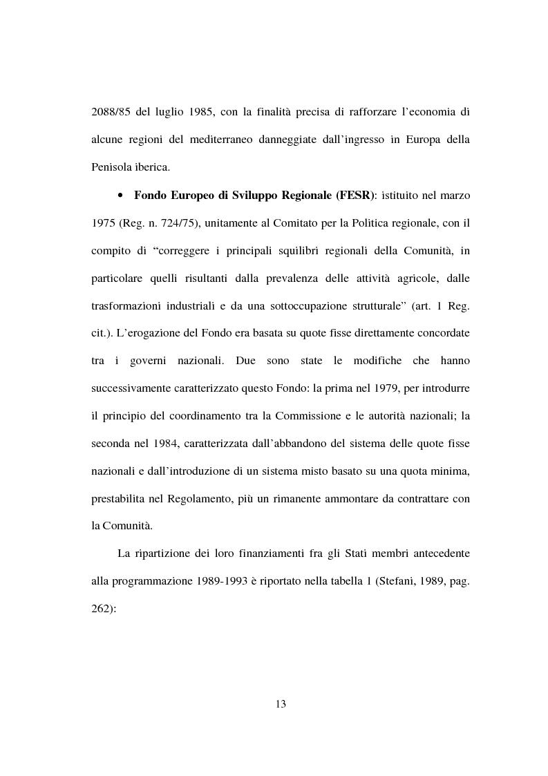 Anteprima della tesi: I fondi strutturali nella politica economica europea, Pagina 9