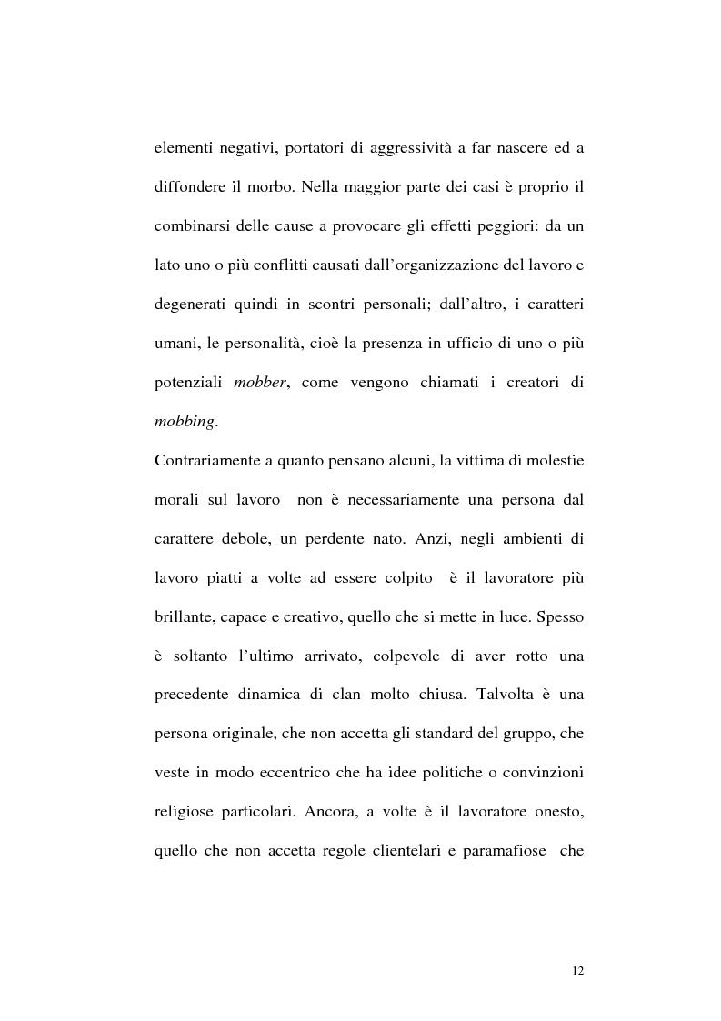Anteprima della tesi: Il mobbing: concetto e fenomenologia giuridica, Pagina 12