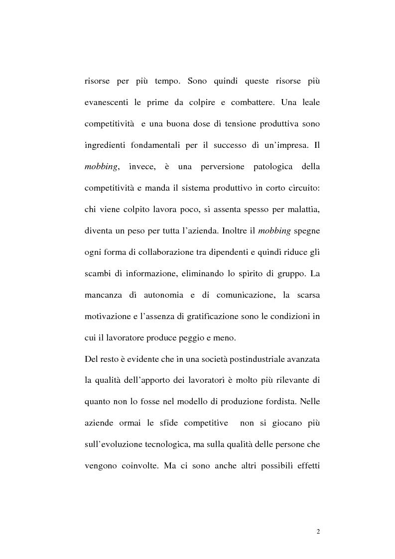 Anteprima della tesi: Il mobbing: concetto e fenomenologia giuridica, Pagina 2