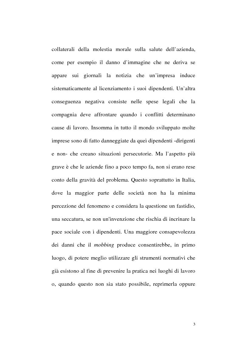 Anteprima della tesi: Il mobbing: concetto e fenomenologia giuridica, Pagina 3