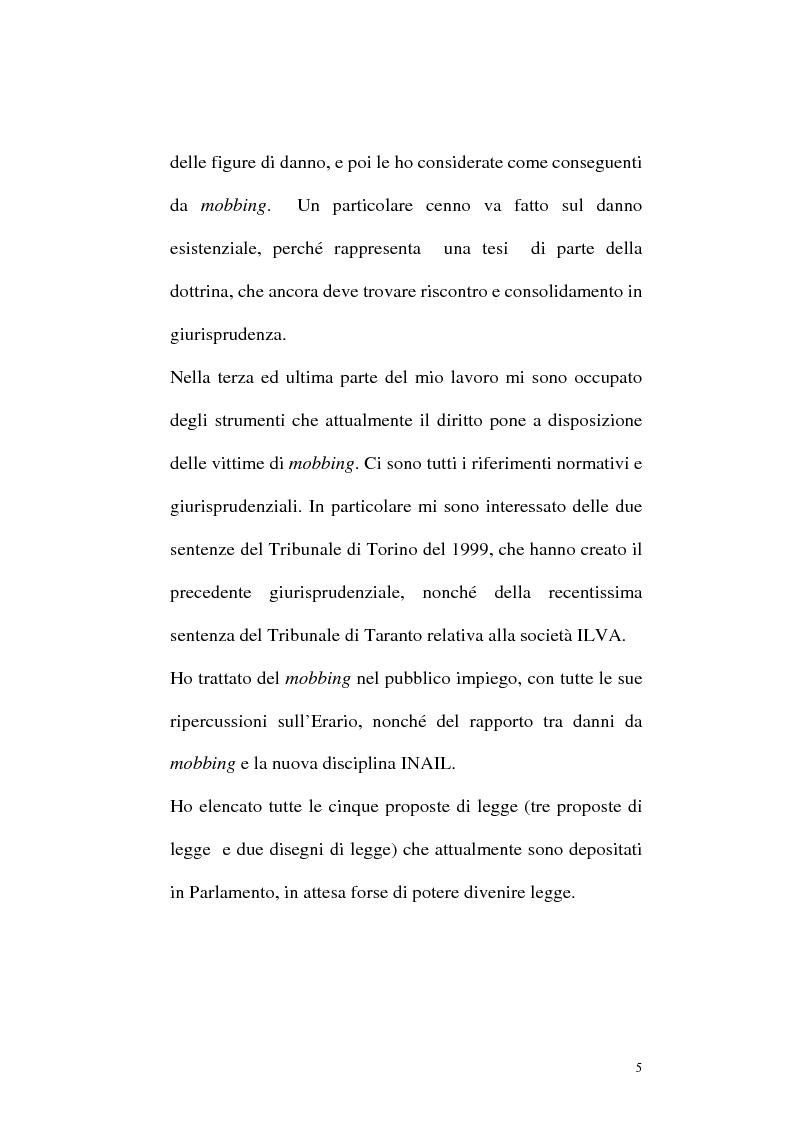 Anteprima della tesi: Il mobbing: concetto e fenomenologia giuridica, Pagina 5