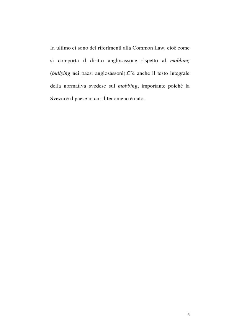 Anteprima della tesi: Il mobbing: concetto e fenomenologia giuridica, Pagina 6