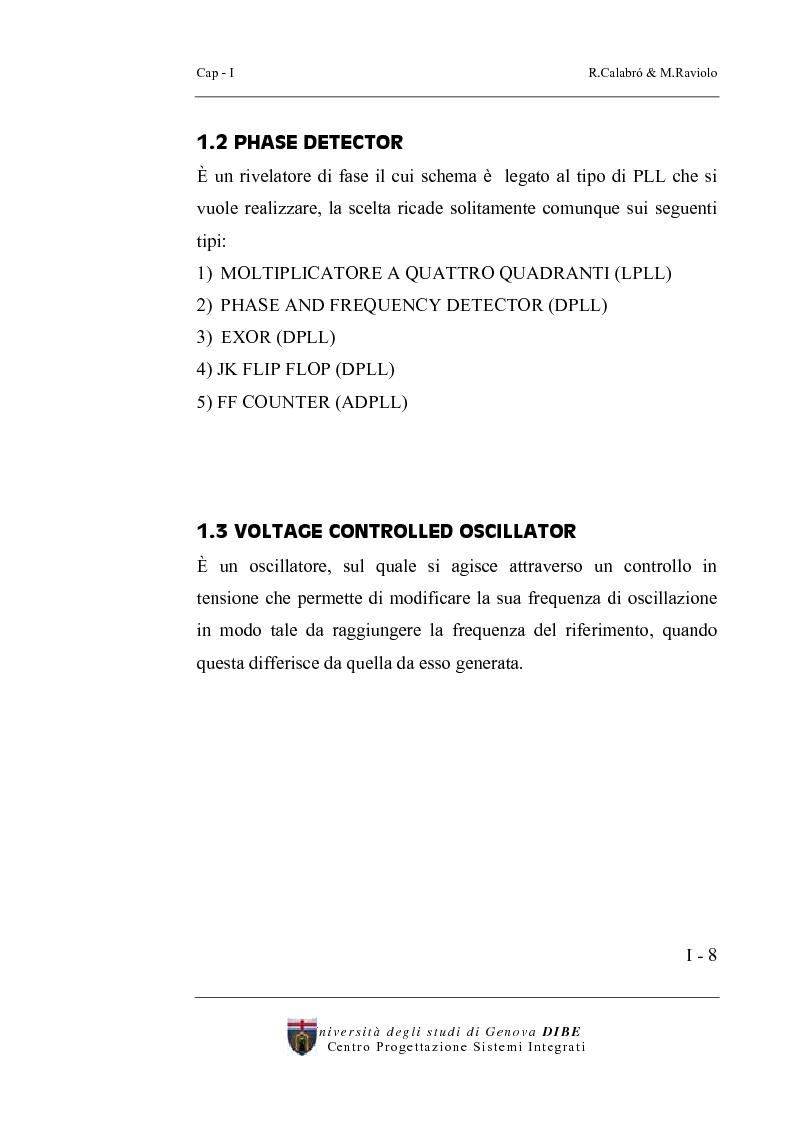 Anteprima della tesi: Progetto di un sintetizzatore a PLL per frequenze 25, 50, 75 Mhz in tecnologia CMOS 0.8 micron, Pagina 3