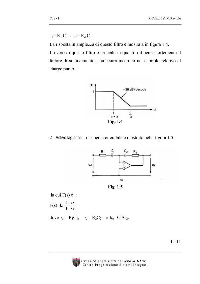 Anteprima della tesi: Progetto di un sintetizzatore a PLL per frequenze 25, 50, 75 Mhz in tecnologia CMOS 0.8 micron, Pagina 6