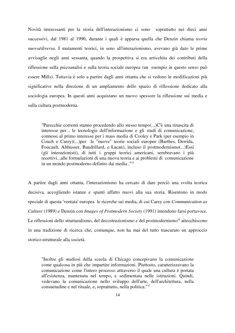 Anteprima della tesi: Recenti contributi dell'interazionismo simbolico alla ricerca sui mass media, Pagina 12