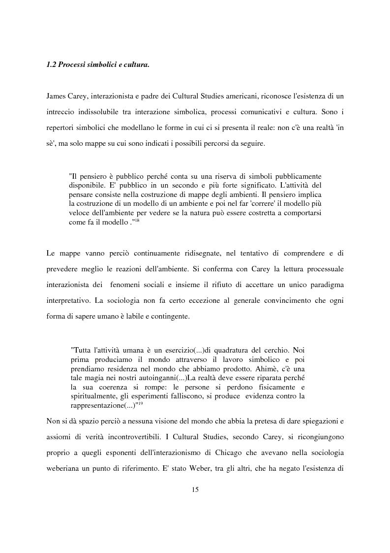 Anteprima della tesi: Recenti contributi dell'interazionismo simbolico alla ricerca sui mass media, Pagina 13