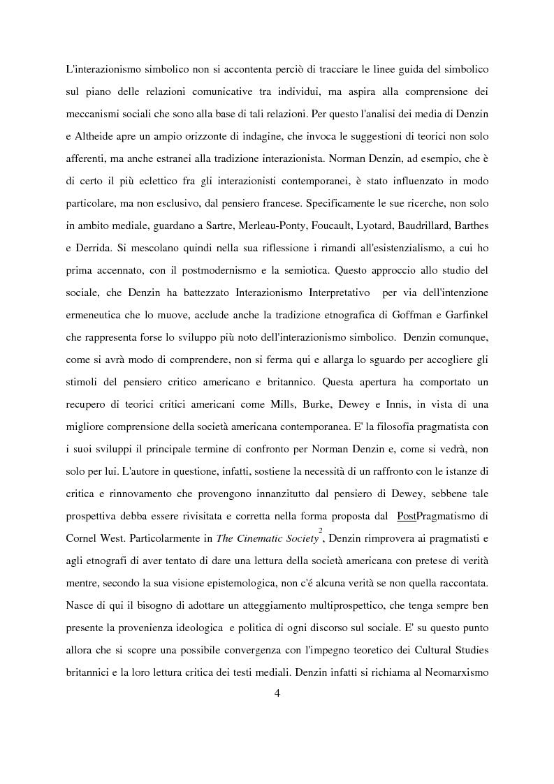 Anteprima della tesi: Recenti contributi dell'interazionismo simbolico alla ricerca sui mass media, Pagina 2