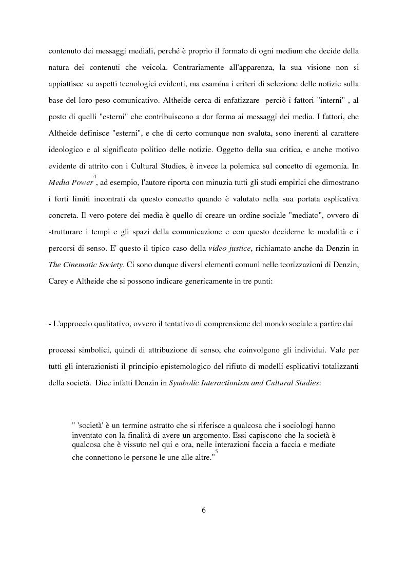 Anteprima della tesi: Recenti contributi dell'interazionismo simbolico alla ricerca sui mass media, Pagina 4