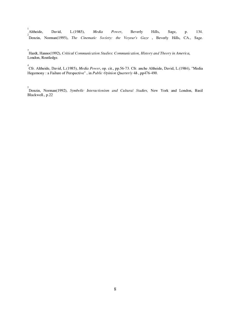 Anteprima della tesi: Recenti contributi dell'interazionismo simbolico alla ricerca sui mass media, Pagina 6