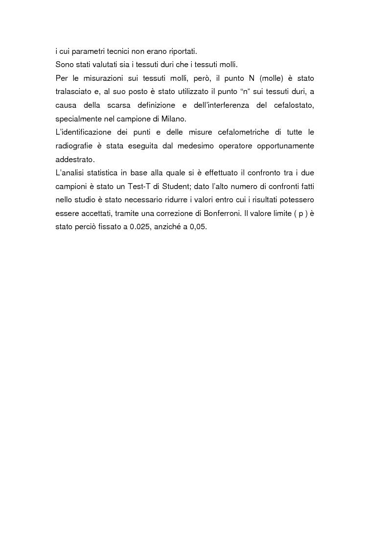 Anteprima della tesi: La crescita cranio-facciale nei pazienti affetti da labiopalatoschisi monolaterale completa: studio multicentric, Pagina 3