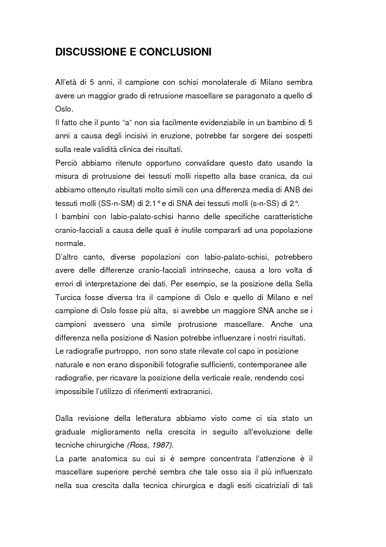 Anteprima della tesi: La crescita cranio-facciale nei pazienti affetti da labiopalatoschisi monolaterale completa: studio multicentric, Pagina 5